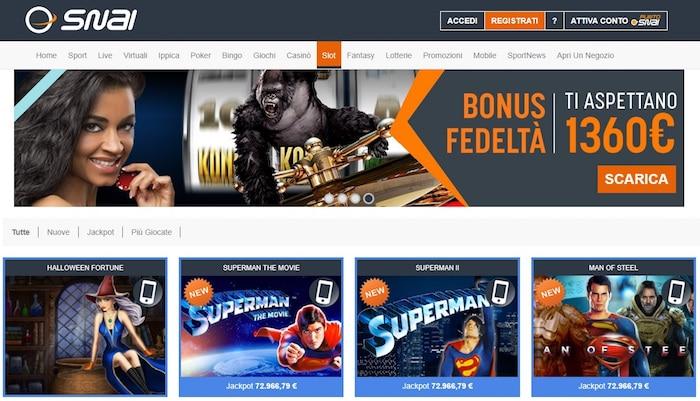 Casino on line senza deposito