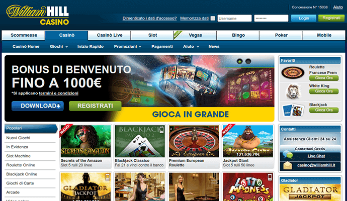 casino online italiano william hill